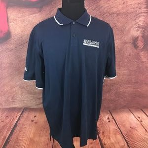 Adidas Climalite Blue Striped Polo Shirt 2XL